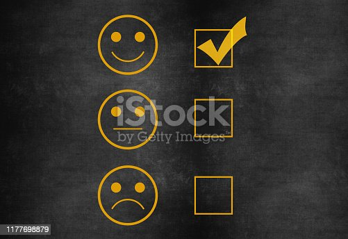 178090546 istock photo Customer service satisfaction survey on blackboard 1177698879