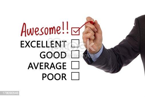 istock Customer service satisfaction survey 178090546