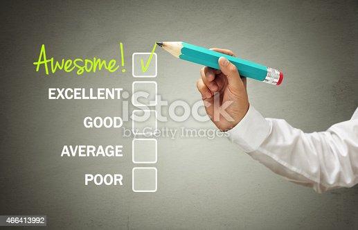 istock Customer service satisfaction survey 466413992