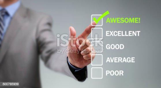 istock Customer service satisfaction survey 500765939