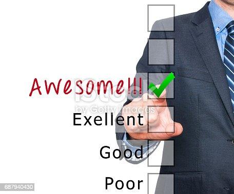 istock Customer service satisfaction survey 687940430