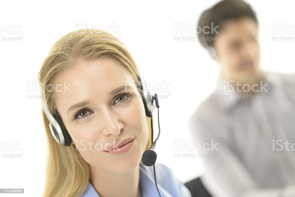 Customer service team royalty-free stock photo