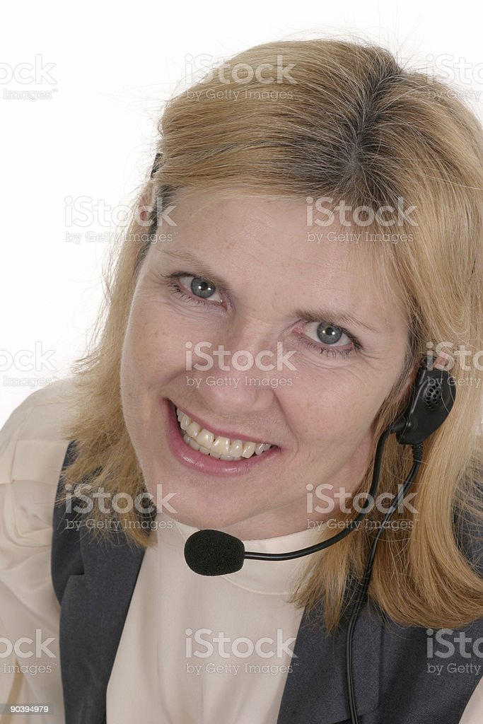 Customer Service Woman Operator royalty-free stock photo