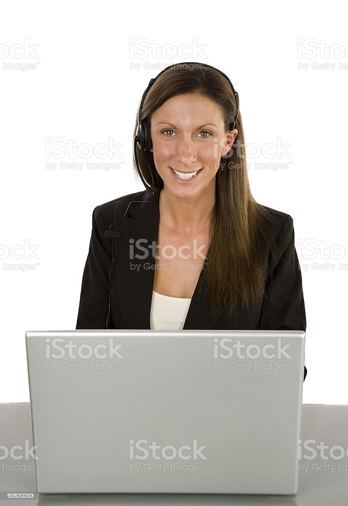 Customer service woman royalty-free stock photo