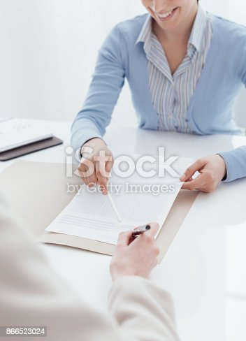 istock Customer signing a contract 866523024