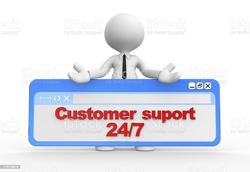 Customer support 24/7 royalty-free stock photo