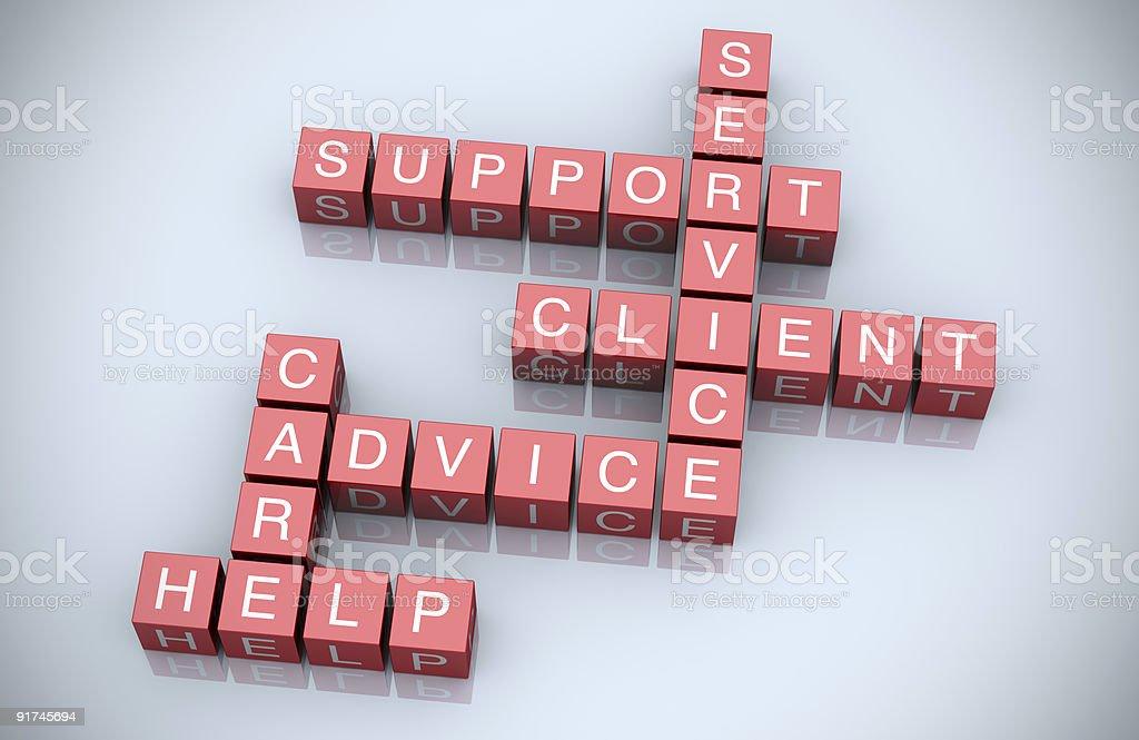Customer support crossword royalty-free stock photo
