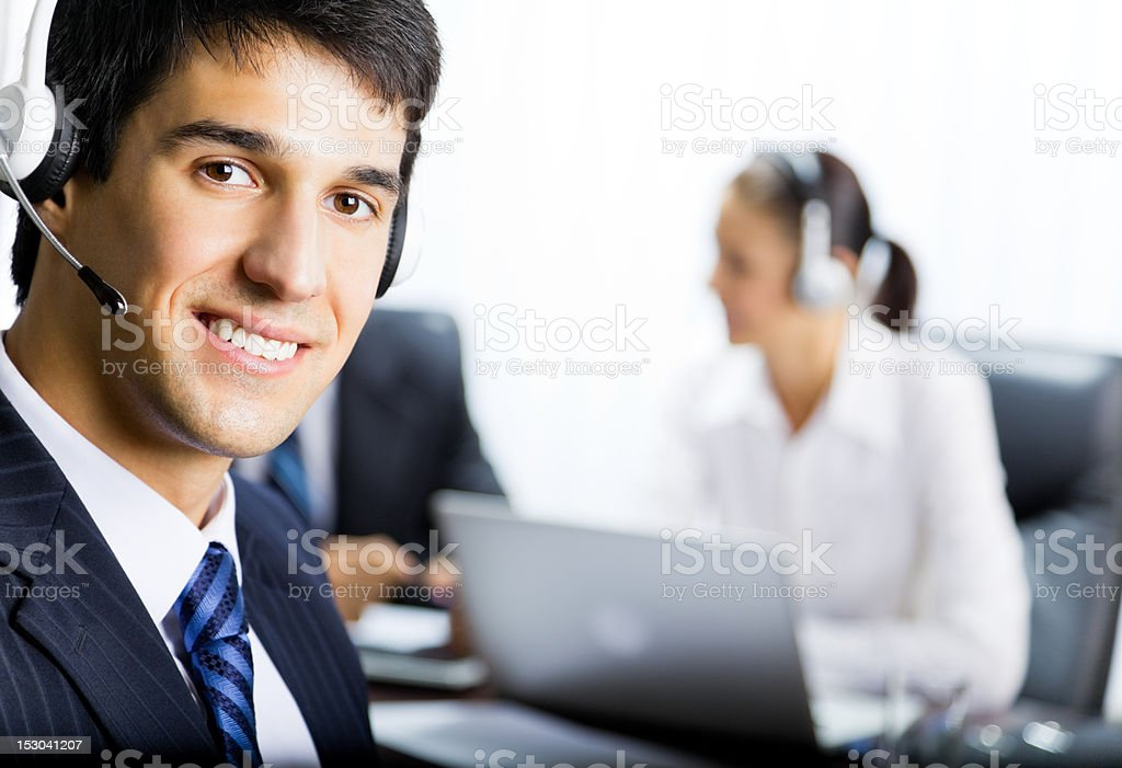 Customer support phone operator royalty-free stock photo