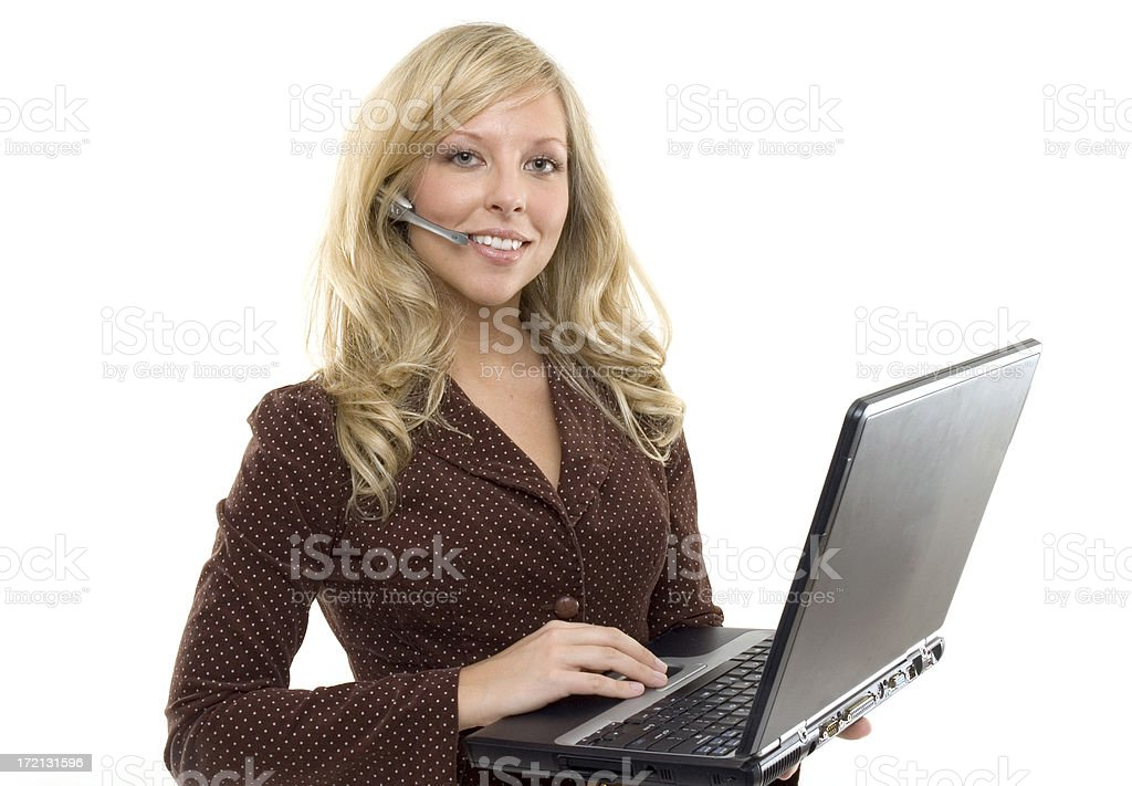 Customer Support Woman III royalty-free stock photo