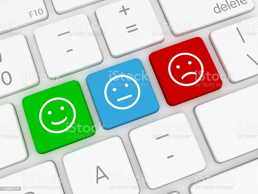 Customer survey feedback stock photo