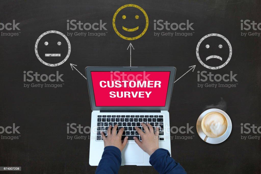 Customer survey feedback royalty-free stock photo
