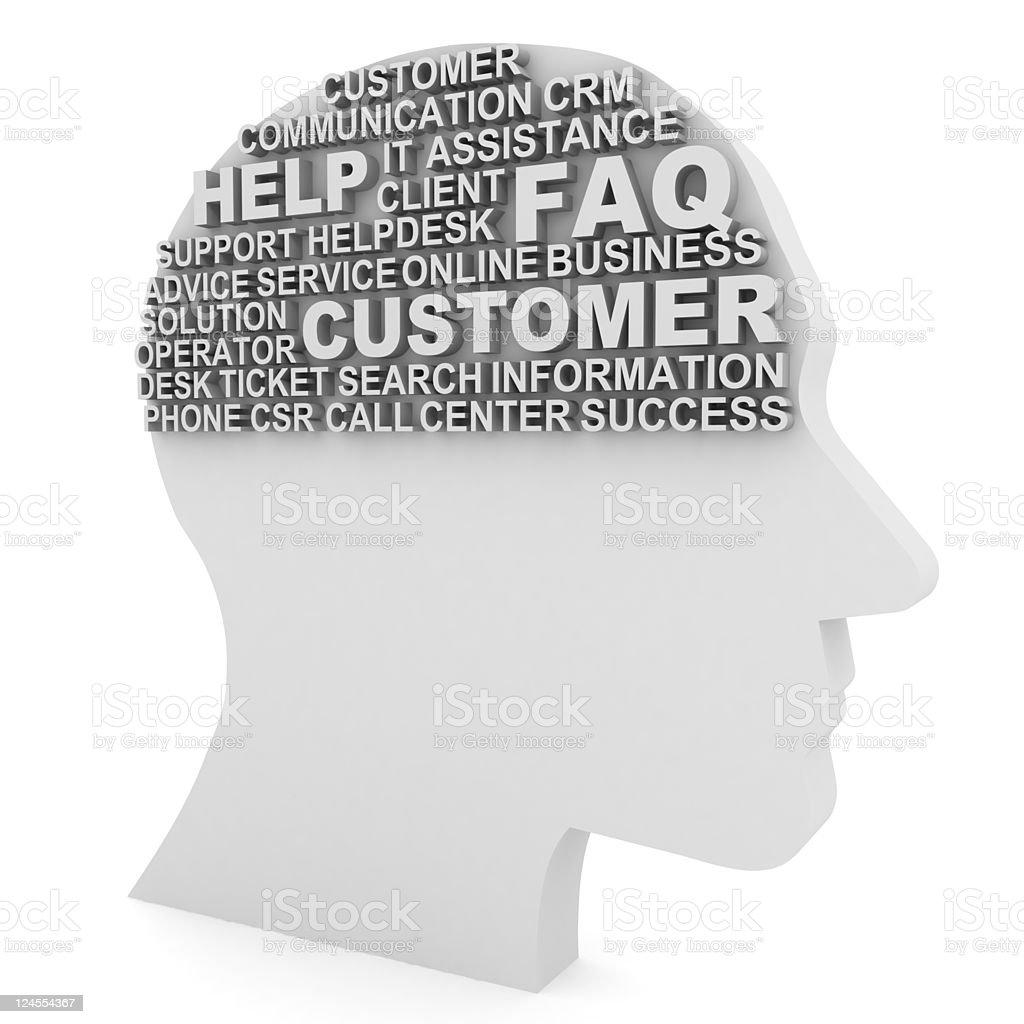 Customer Thinking royalty-free stock photo