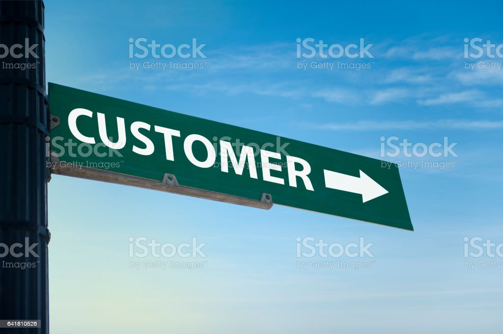 Customer / Traffic sign (Click for more) stock photo