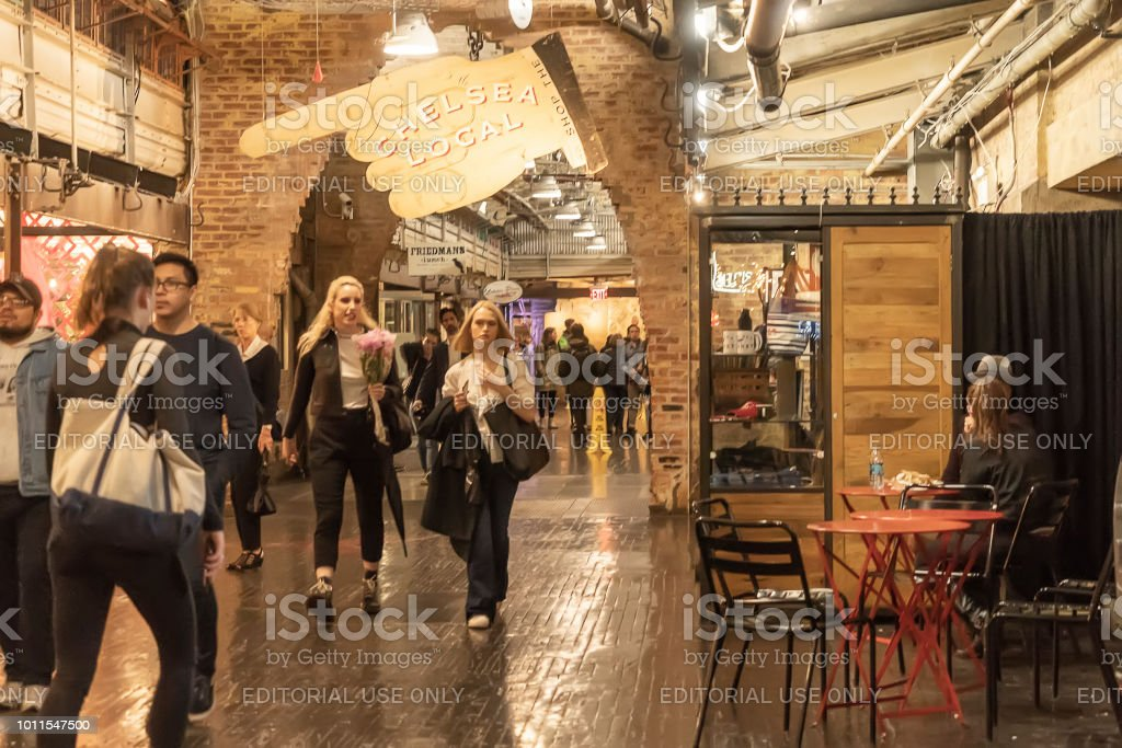 Chelsea Market New York City Usa 14 May 2018 Customers And Visitors In  Chelsea Market Stock Photo & More Pictures of Adult