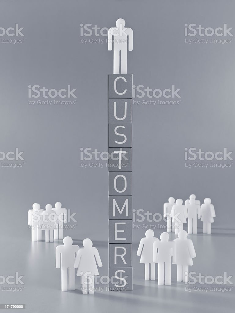 Customers(man version) royalty-free stock photo