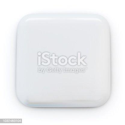 Customisable Badge. Digitally Generated Image isolated on white background