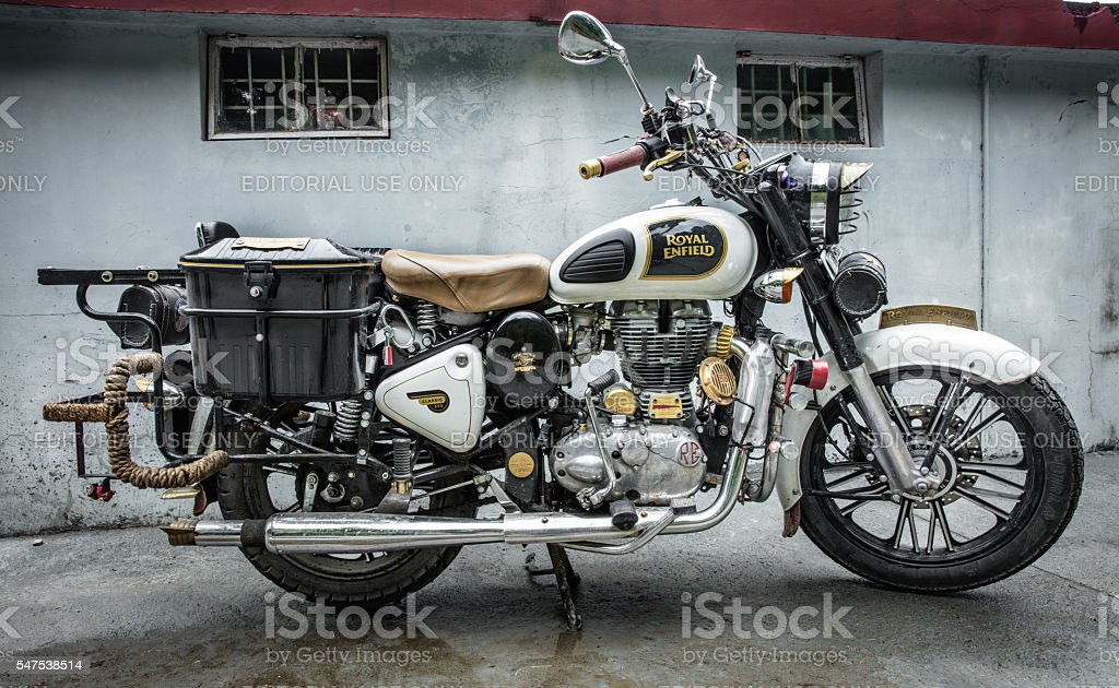 Customised royal enfield bullet stock photo
