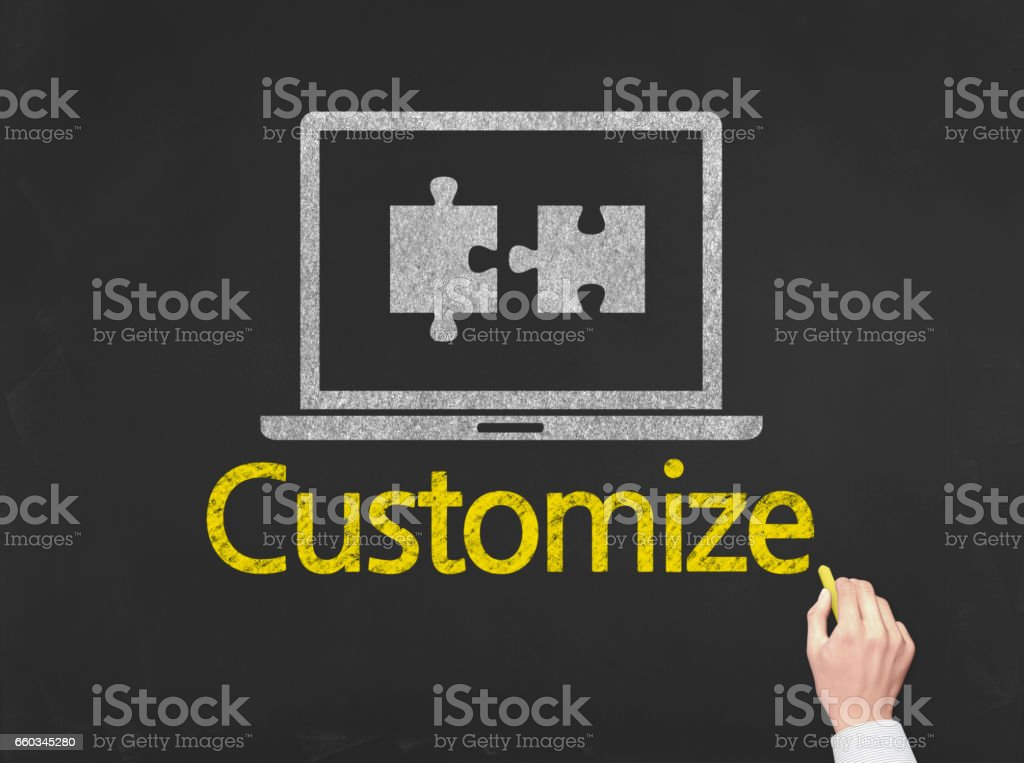 Customize - Business Chalkboard Background stock photo