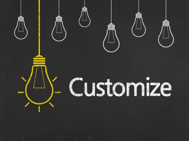 Customize - Business Chalkboard Background stock photo