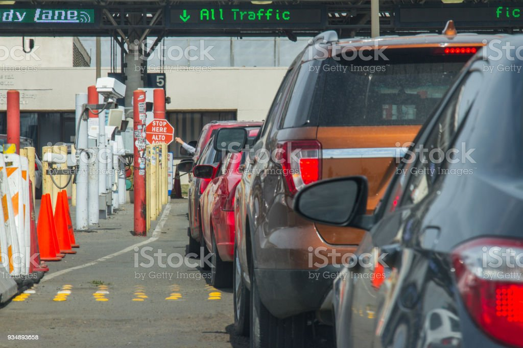 U.S. Customs and Border Protection Otay Mesa Port of Entry stock photo