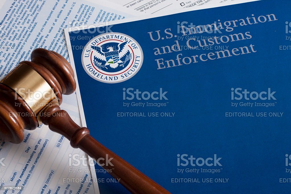US Customs and Border Protection stock photo