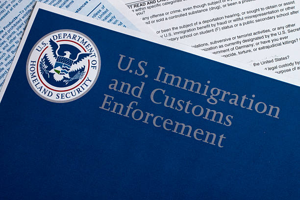 US Customs and Border Protection Miami, FL, USA - July 16, 2015: US Customs and Border Protection Declaration document customs stock pictures, royalty-free photos & images