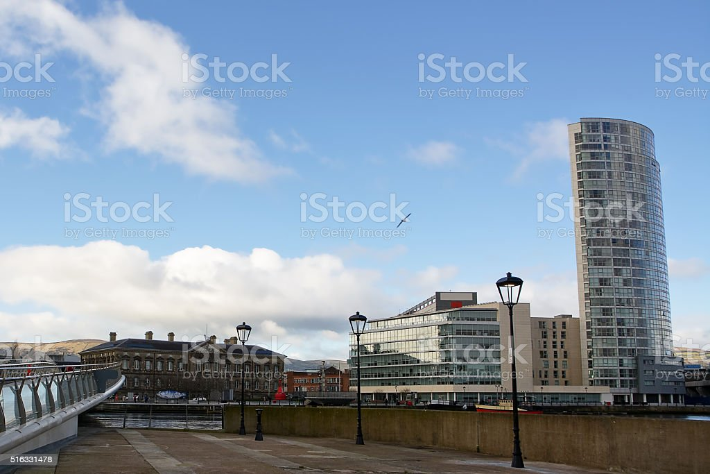 Customs House in downtown of Belfast stock photo