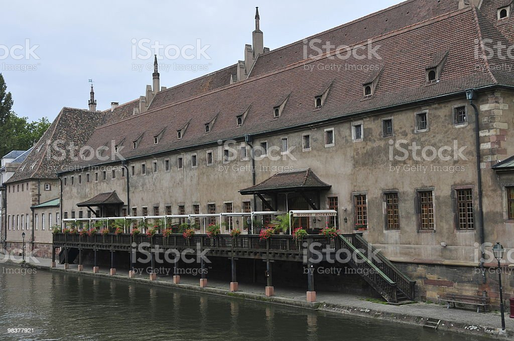 Custom House Restaurant sul Canal a Strasburgo foto stock royalty-free