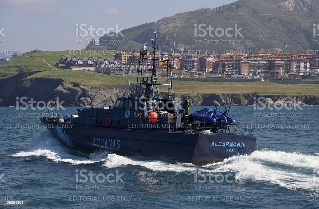 Customs patrol boat royalty-free stock photo
