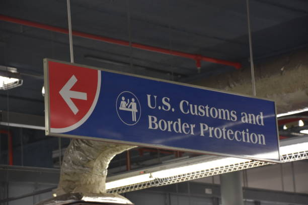 Customs sign and border control United States Customs sign and border control United States border patrol stock pictures, royalty-free photos & images