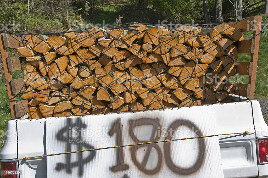 Cut alder wood for sale royalty-free stock photo