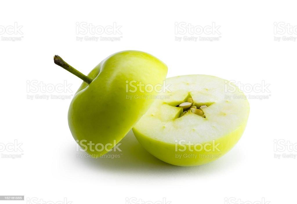 cut apple stock photo