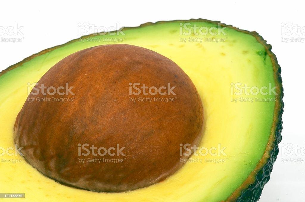 Cut Avocado closeup royalty-free stock photo
