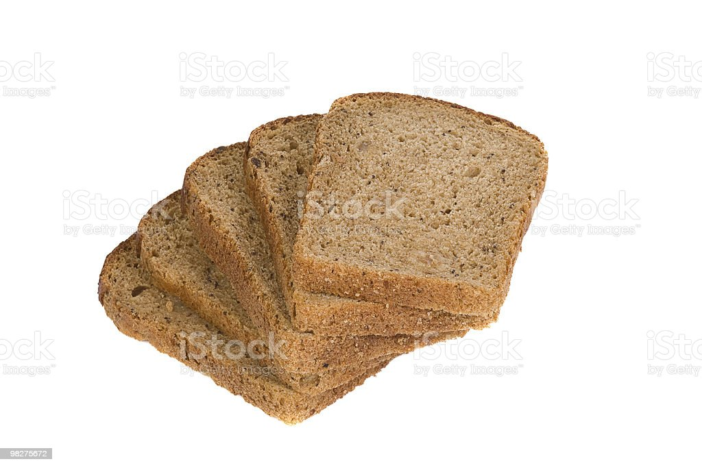 cut bread on white royalty-free stock photo