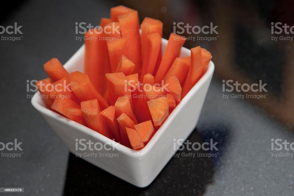 Cut carrots stock photo