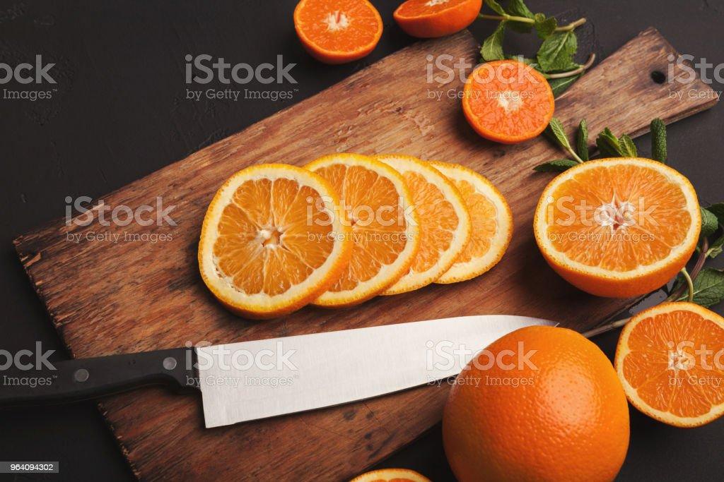 Cut citruses closeup. Juicy background - Royalty-free Circle Stock Photo