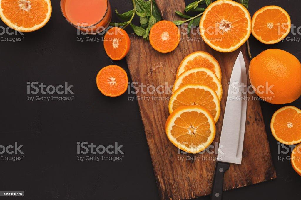 잘라 citruses, 평면도. 육즙이 배경 - 로열티 프리 감귤 스톡 사진