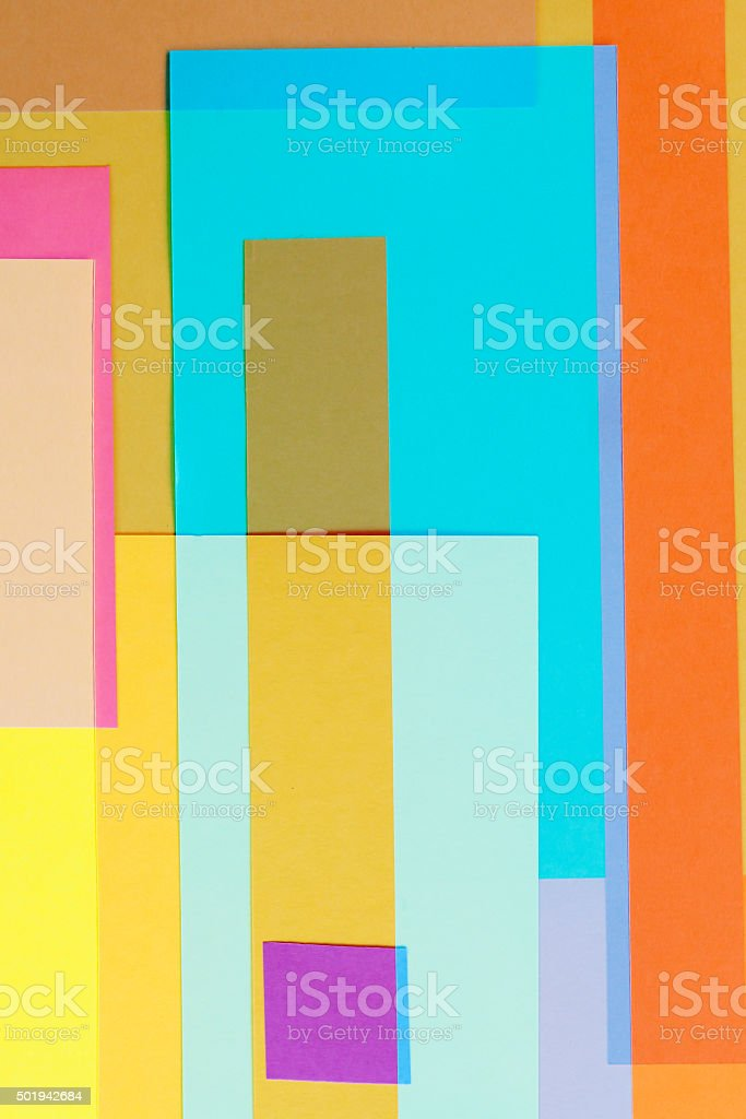 Cut Colored Paper Design 7 stock photo