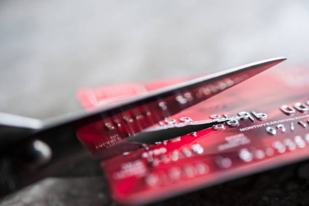 Schneiden Sie Kreditkarte – Foto