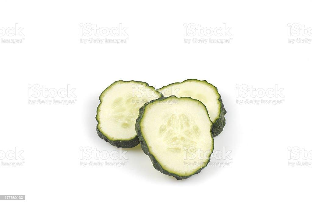 cut cucumber royalty-free stock photo