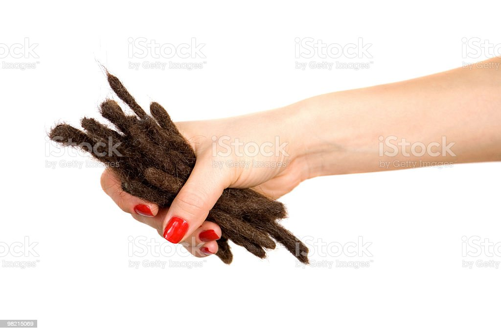Cut dreadlocks royalty-free stock photo