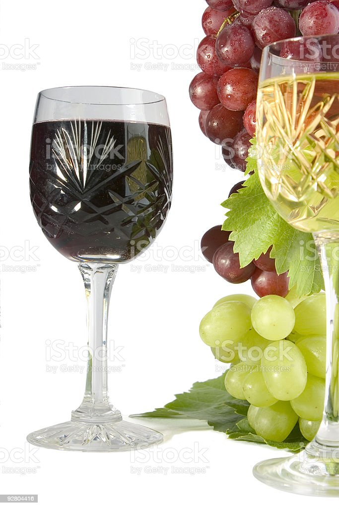 Cut glass wines stock photo