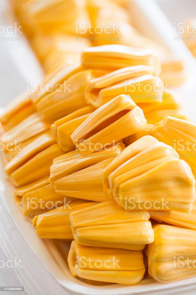 Cut Jackfruit stock photo