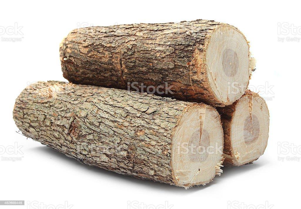 Cut offenes Feuer Holz. - Lizenzfrei Abholzung Stock-Foto