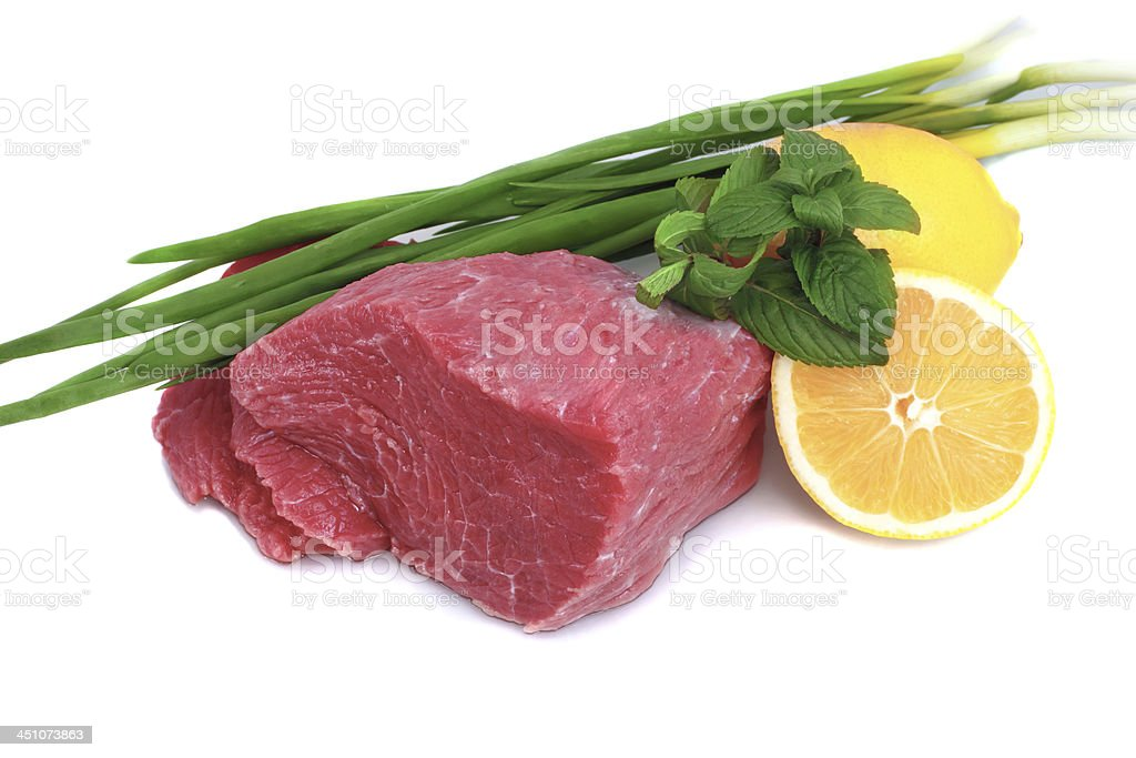Cut of  beef steak royalty-free stock photo