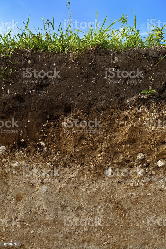 Cut of ground stock photo