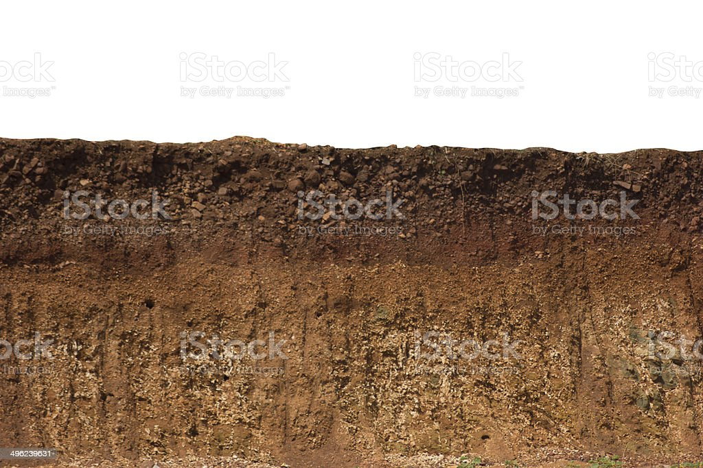 Cut of ground stock photo