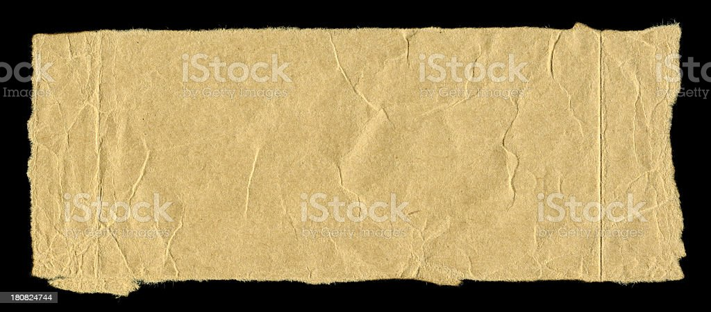Cut or torn brown paper textured background royalty-free stock photo