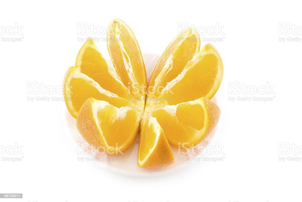 cut orange on the white royalty-free stock photo