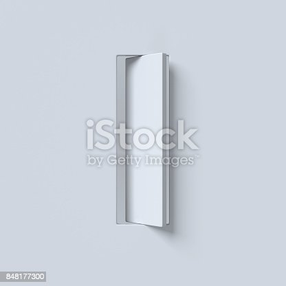 583978326 istock photo Cut out and rotated font 3d rendering letter I 848177300